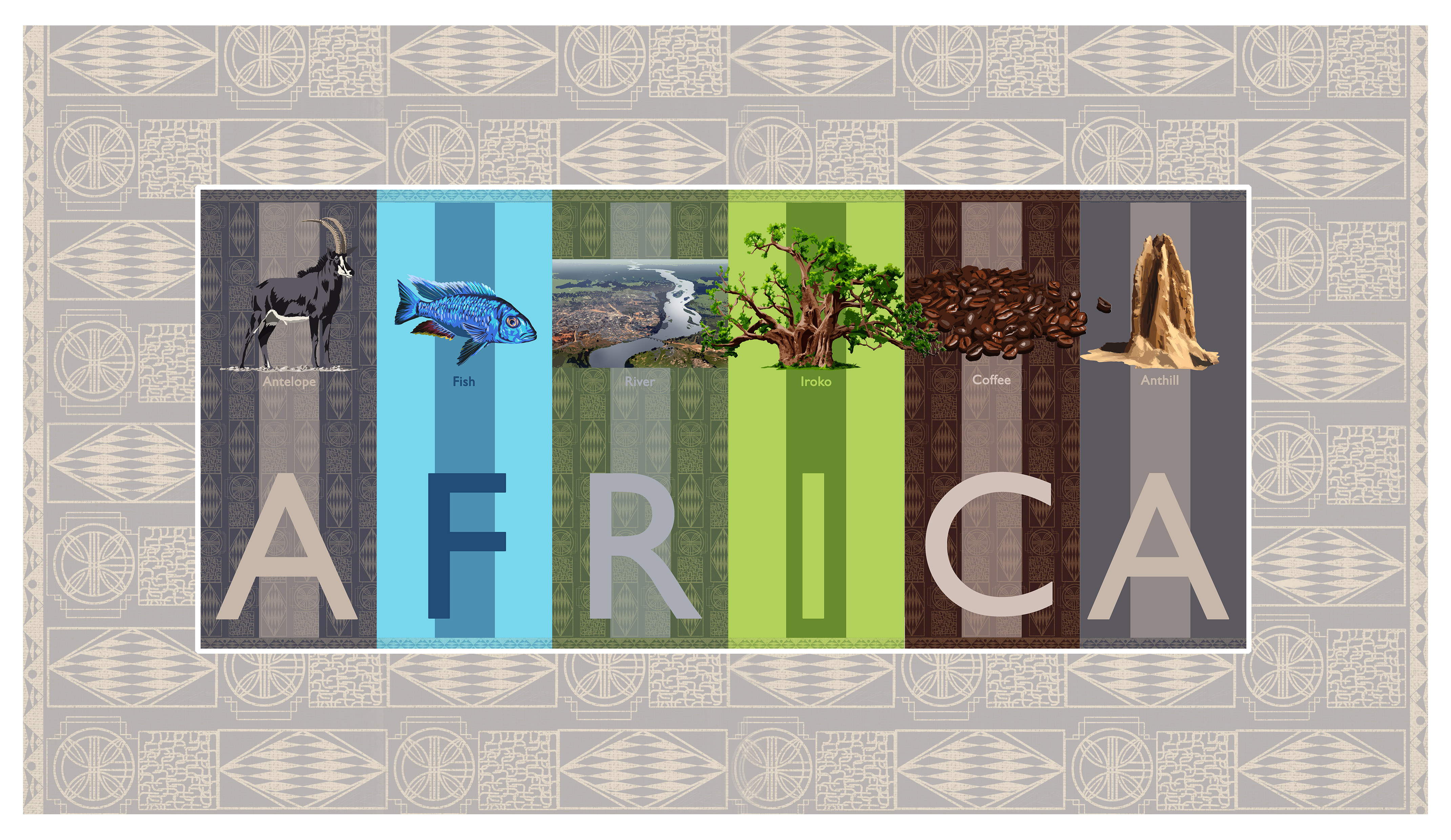 Africa ABC children's picture book